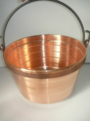 Pentola Paiolo Pasta POLENTA in Rame con Manico in ferro 42 cm CAMINO GAS