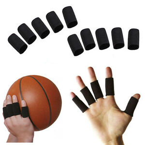 10x-Finger-Protector-Sleeve-Support-Basketball-Sports-Aid-Arthritis-Band-Wraps