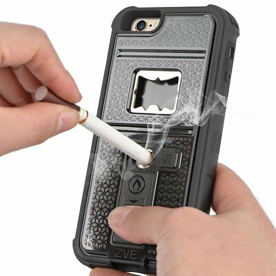 reputable site 4eb01 75ef9 Multifunctional Cigarette Lighter Bottle Opener Phone Case for iPhone X 8 7  6