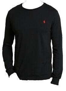 Mens-Polo-Ralph-Lauren-cuello-redondo-manga-larga-T-Shirt