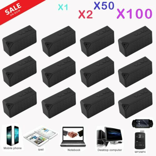 LOT 1~100 Wireless Boombox Stereo Bluetooth Speaker  For Phon Tablet PC B2