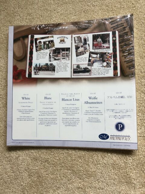 NEW Creative Memories 12x15 White Scrapbook Pages Refill 15 Sheets RCM-15S