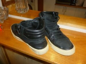 b8bbb93149 Details about Rare Mens Yves Saint Laurent Black Suede/Leather Pony High  Top Sneakers. Super!