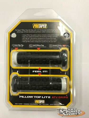 BLACK//WHITE ProTaper Pillow Top Lite ATV Grips Honda Kawasaki Suzuki Yamaha