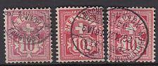 SWITZERLAND:1882-92 10c pink;rose;carmine SG130A,c,d used
