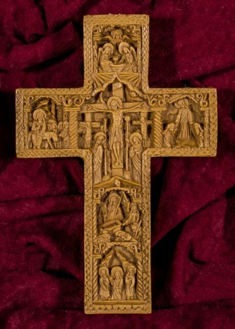 Greek Christian Cross Crucifix Jesus Christ Aromatic Beeswax Mastic Incense  Gift