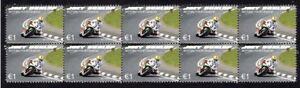JOEY-DUNLOP-MOTORCYCLE-LEGEND-STRIP-OF-10-MINT-VIGNETTE-STAMPS-2