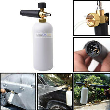 "1/4"" Adjustable Snow Foam Lance Cannon Washer Bottle Pressure Car Wash Gun Jet"