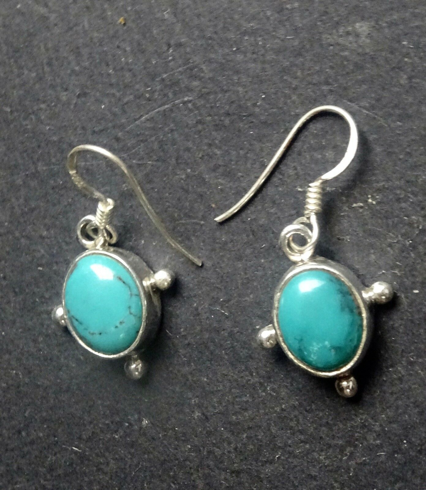 PAIRE BOUCLE D'OREILLE INDE TURQUOISE EARING INDIA