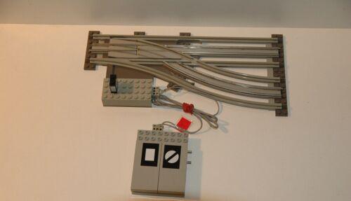 Weiche rechts GRAU SWITCH POINT Lego 12V Eisenbahn TRAIN 7858 Elektr
