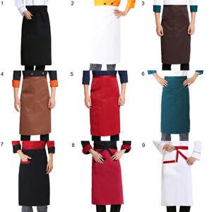 Am-Kitchen-Apron-Half-length-Long-Waist-Apron-Catering-Chefs-Waiters-Uniform-De