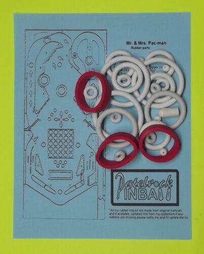 1982 Bally Mr /& Mrs Pacman Pac-Man pinball rubber ring kit