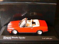 MASERATI BITURBO SPYDER 1986 RED MINICHAMPS 400123530 1/43 CABRIOLET ROUGE ROSSO