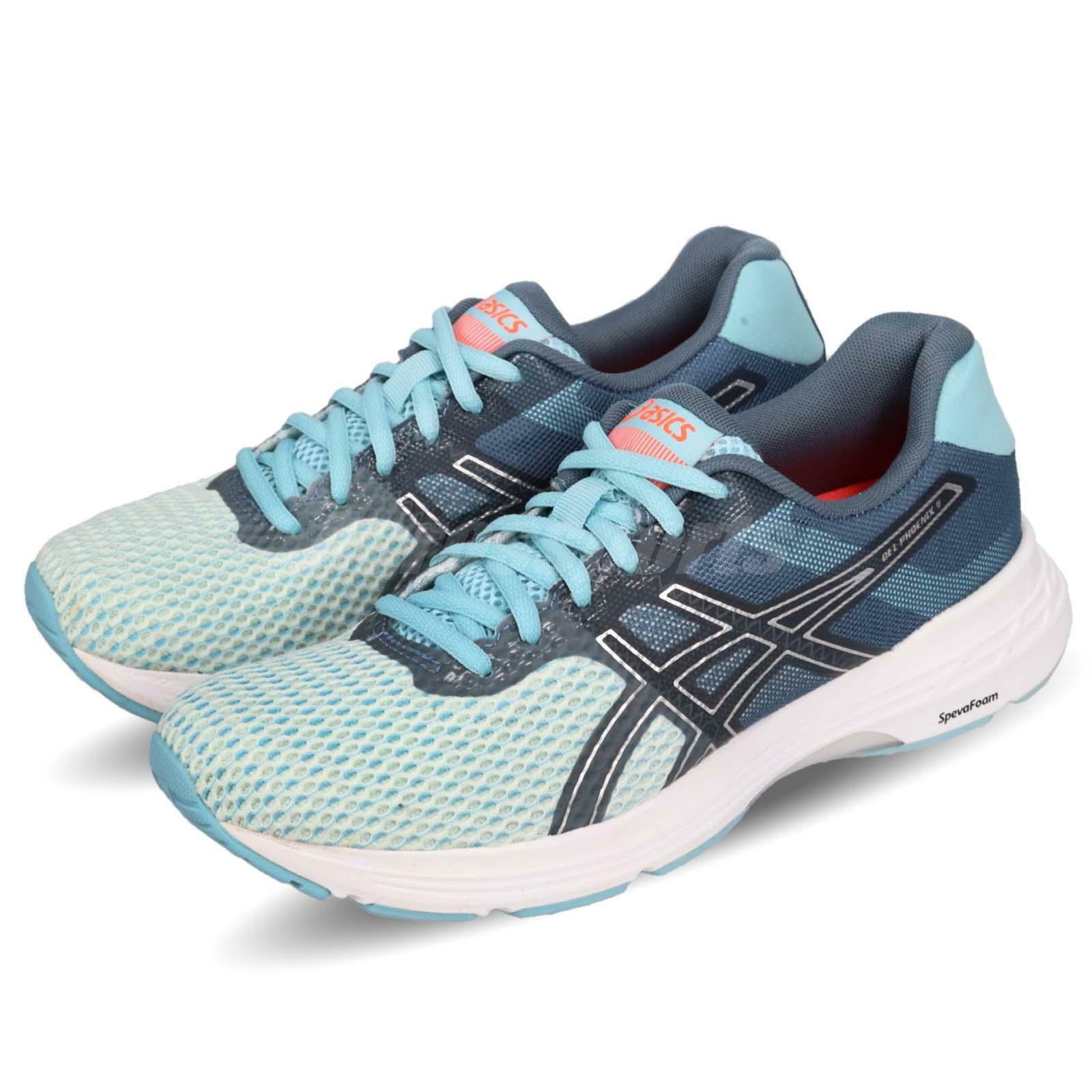 Asics Gel Phoenix 9 blå silver vit kvinnor Löpning skor skor T872N-1493