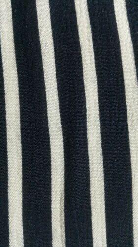 Blanco y Azul Marino A Rayas 100/% Viscosa Tela Venta Por Unidad