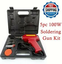 Electric welder kit with flux solder//100w pistol and briefcase t