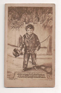 Vintage-CDV-Album-Filler-Beggar-Boy-All-Contributions-Thankfully-recieved