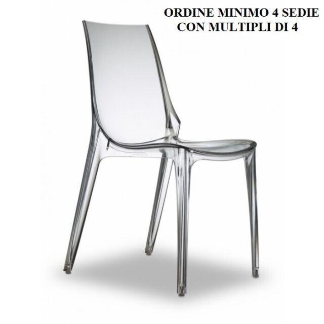 Sedia moderna Vanity Chair Scab in policarbonato trasparente Bar ristorante