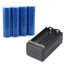 4PCS 6000mAh CASUNG Li-ion 3.7V Rechargeable 18650 Battery + Dual Charger USA