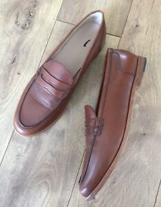 ac1e61c5819 New JCrew Ryan penny loafers Leather shoes 11 burnished pecan brown ...