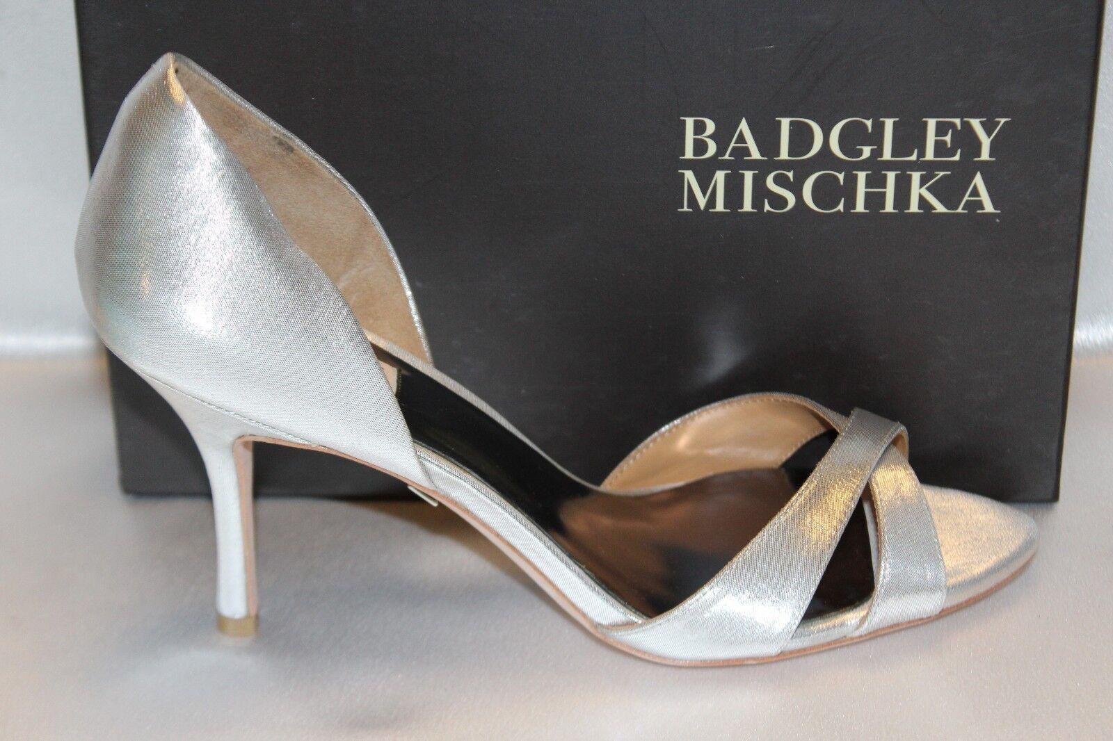 NEW  BADGLEY MISCHKA MISCHKA MISCHKA Silver MYSTERY Heels Open Toe Formal Bridal Schuhes 10 198 69f055