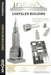 Iconx CHRYSLER BUILDING 3D Jigsaw Puzzle Laser Cut Metal Earth Steel Model Kit