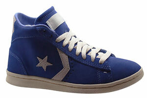 autumn shoes separation shoes look for Details about Converse All Star Pro Leather Vulc Mid Blue Mens Trainers  Blue 136963C B25A