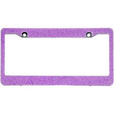 Purple Crystal Rhinestones License Plate Frame 7 rows Special Bling Offer