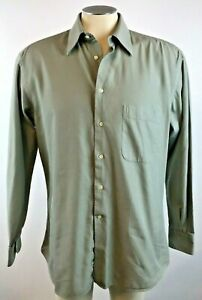 Ermengildo-Zegna-Mens-Dress-Shirt-15-5-Small-S-Woven-Button-Up-39-Free-Shipping