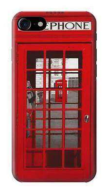 Classic British Red Telephone Box Printed Glossy Phone Case for iPhone 7