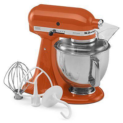 KitchenAid Stand Mixer tilt 5-Quart ksm150pspn Orange Persimmon Artisan New