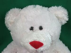 Big Plush Adorable White Valentine S Day Candy Heart Teddy Bear Kiss