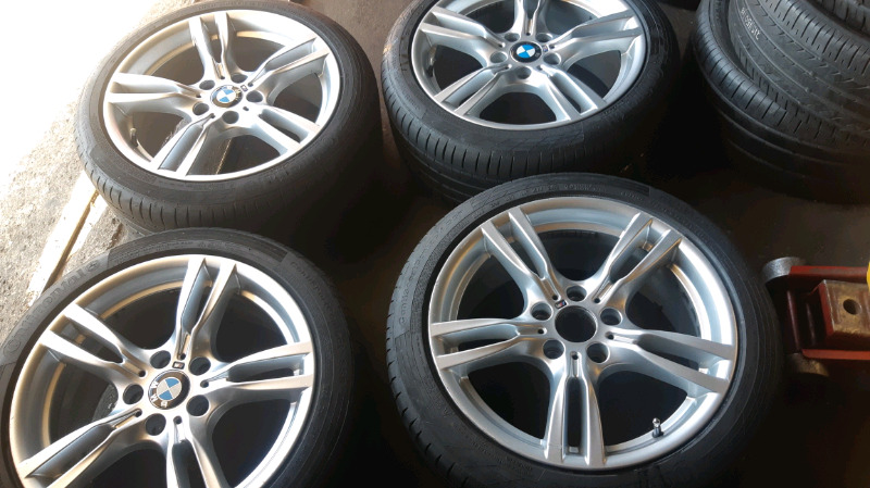 A set of 18inch BMW f30 mags and tyres original
