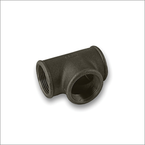 "Tee (Equal) Black Malleable Iron Pipe Fitting BSP 1/2"" & 3/4"""