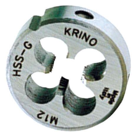 Krino filiera tonda HSS Ø 20 mm filettatura M6 passo 1,0 regolabile