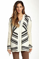 $82.00 Vintage Havana Navajo Aztec Chunky Fringe Hoodie Sweater (juniors) Small