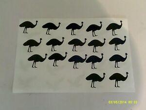 20 - 500 ostrich / emu stickers fun for children boys girls bird birds