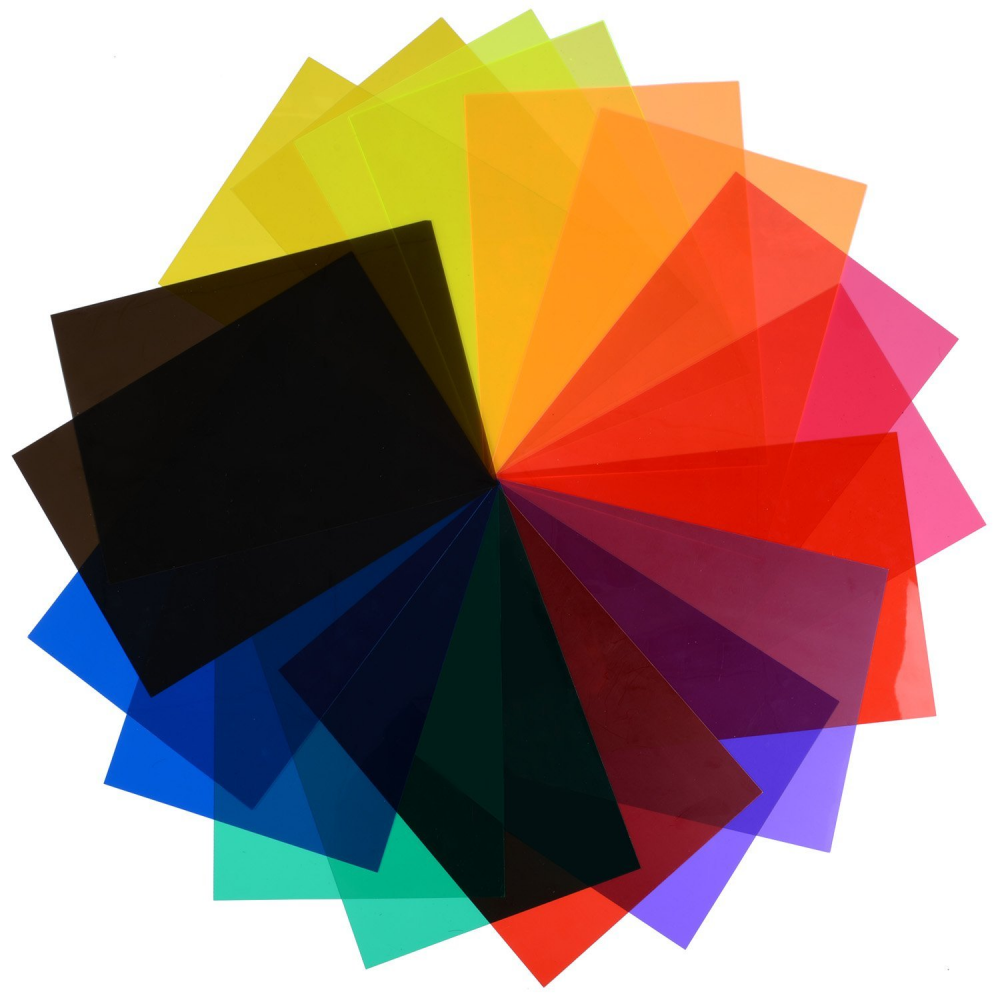 Fityle Color Correction Gel Filter Overlays Transparency Color Film Plastic Sheets Gel Lighting Filters Blue