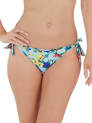 Lepel LE168072 Swimwear Flower Power Tie Side Bikini Pant in Blue Multi