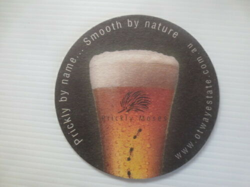 """1 only PRICKLY MOSES  Micro Brewery New South Wales BEER coaster  /"""" Round /"""""""