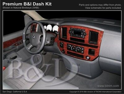 Dash Trim Kit for DODGE RAM 06 07 08 carbon fiber wood aluminum