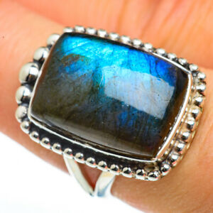 Labradorite-925-Sterling-Silver-Ring-Size-8-Ana-Co-Jewelry-R46038