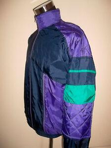 vintage-Nylon-Jacke-Sportjacke-track-jacket-glanz-shiny-oldschool-jacket-M-L