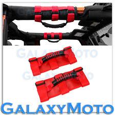 87-16 Jeep Wrangler JK TJ YJ Extreme Sport RED Black Rear Side Bar Grab Handle