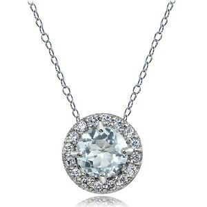 Sterling-Silver-Aquamarine-and-White-Topaz-Round-Halo-Necklace