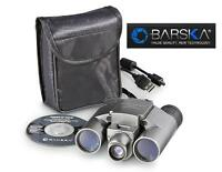 Barska Point 'n View 10x25mm Camera Binoculars W/case Magnify & Capture Images