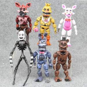 Five Nights At Freddys Nightmare 12.7cm Set Mit 6 Aktion Figuren Gift Sammel S25