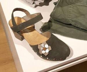 Sandale Pantolette Damen Rieker Clogs grün Schuhe zu oliv neu Details VSUpzGLqM