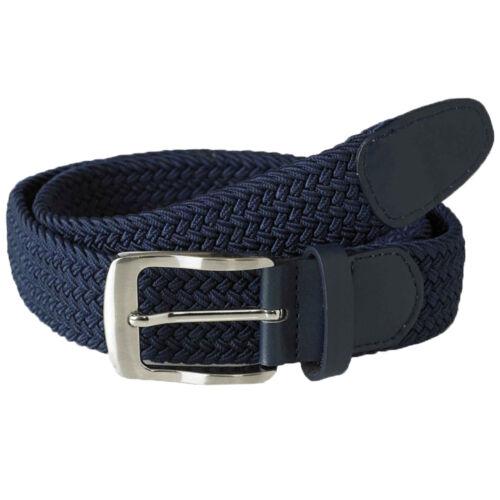 Da Uomo Duke D555 Intrecciato Stretch Cintura DANI fibbia con logo Frank Fashion Designer