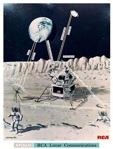 NASA-1969-Apollo-11-Moon-Mission-Landing-Lunar-Comms-Concept-Art-Print-Space